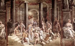 Battesimo di Costantino. Raffaello. Sala di Costantino. Musei Vaticani