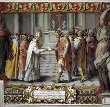 Donazione di Costantino. Raffaello. Sala di Costantino. Musei Vaticani