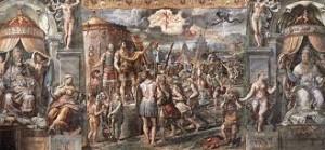 Visione della croce. Sala di Costantino, Musei Vaticani, Raffaello